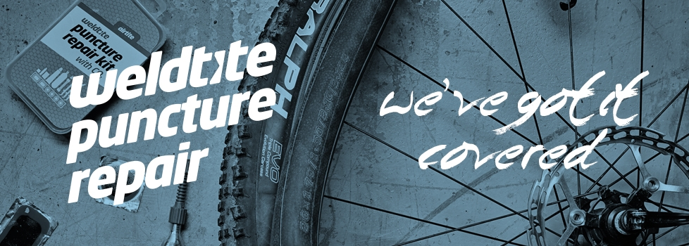 Punctures: We've got them covered. Ask for Weldtie Repair; the most comprehensive range of two-wheeled puncture repair kits available.